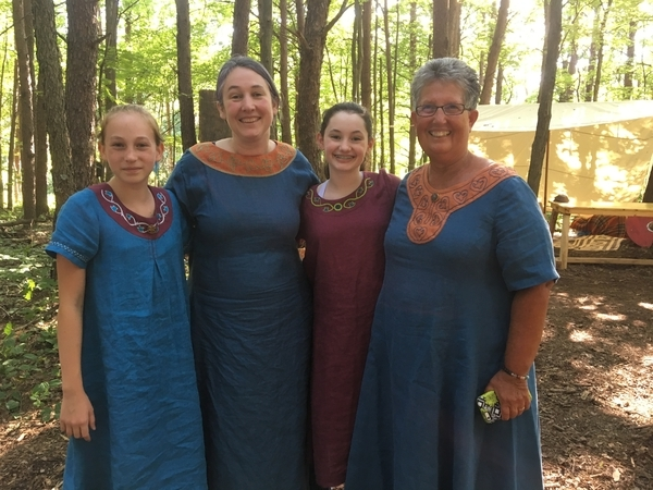 Jayme, Tenth century Viking for the women of the house of Wildman. The four dresses were made from your lov...