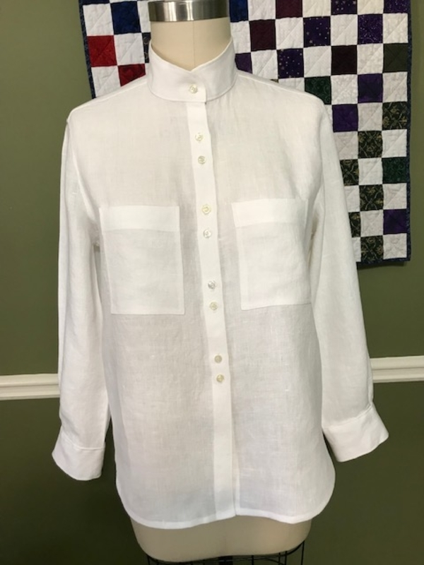 Martha, I love a white linen shirt. This Archer Button Up shirt (Grainline Patterns) was made with your unbl...