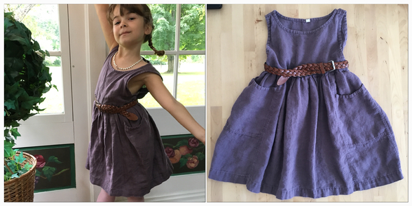 Anne, Designed by me, my daughters dress in Montana Grape. No pattern, just winged it. The pockets are my...