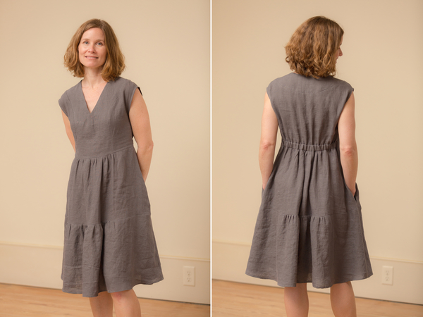 Paula, I wanted to create an easy to wear dress that had a little personality. The result was this Vneck, p...