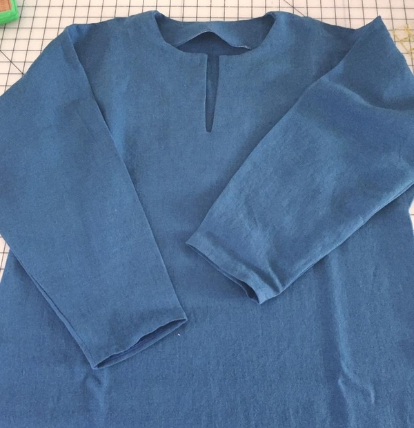 Dawn, I am a seamstress and historical reenactor as well. This 100% linen tunic was made for a client and...