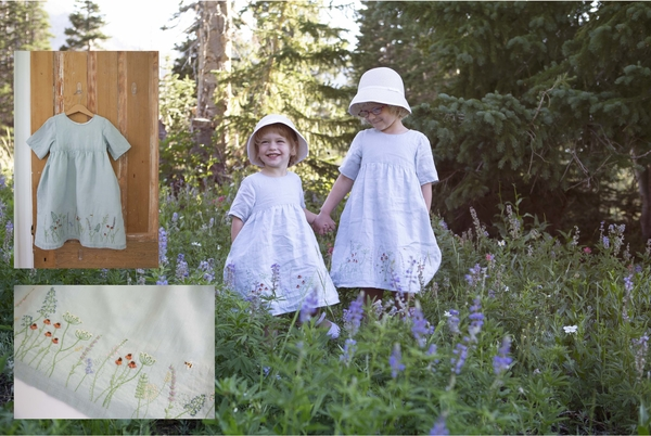 Natalie, Summer dresses made for my little girls to reflect the wild flowers in our surrounding mountains.  I...