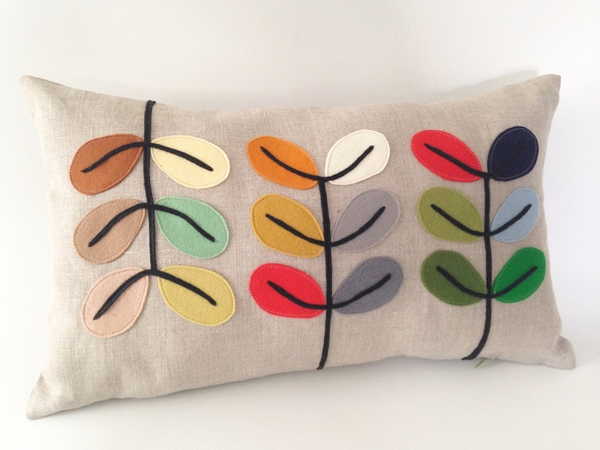 Dagmar, This is my latest design inspired by Mid century modern design. I used mix natural linen and handcut...