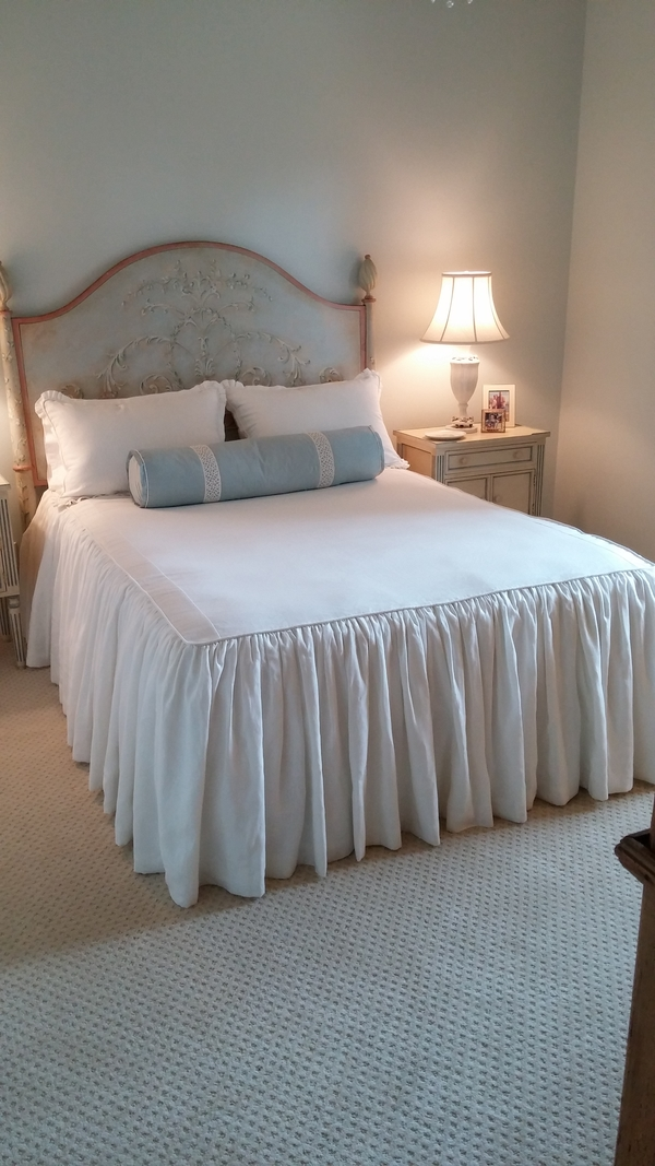 Phyllis, This is a waterfall bedspread,it is lined in a cotton fabric I have made several. I have made draper...