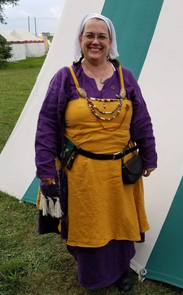 Melissa , Viking Kit from the SCA - Circa approximately 950 a.d.  Made from Autumn Gold, Royal Purple, and Opt...