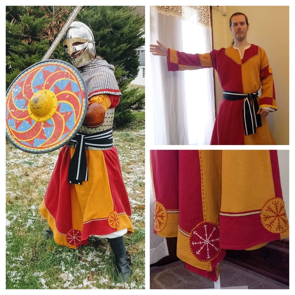 Renee, Reenactment/Costume category. This is a Viking tunic made for my husband to wear with his armor when...