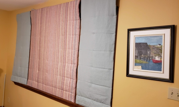 Janice, I love my Warm Window quilt Roman Shades. I used fabric-store IL019 Meadow and their multistriped IL...