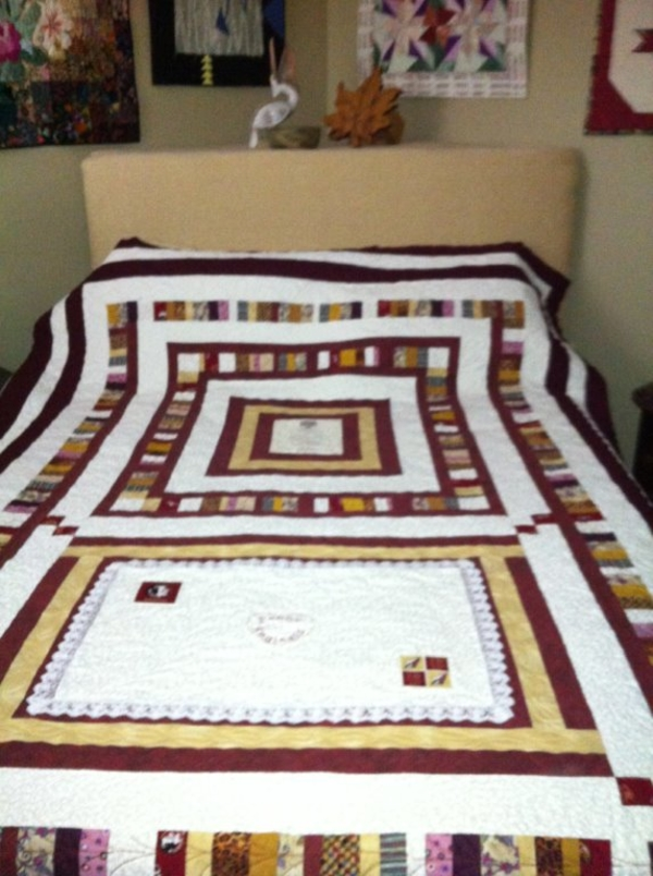 Carole, I made this quilt using the colors of FSU & the logos from that school as a gift for a grand...