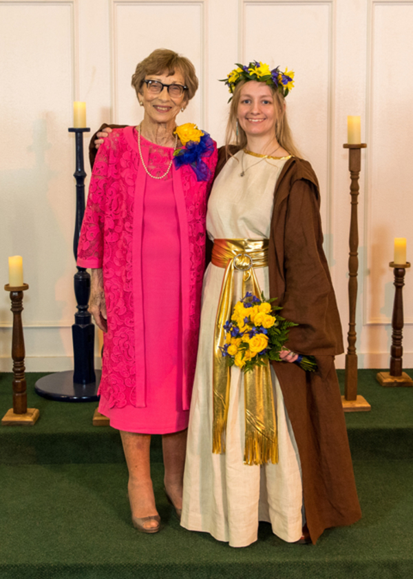 Sue, My daughter wanted a Jedi costume for her wedding! It consisted of a blouse and pleated skirt made f...