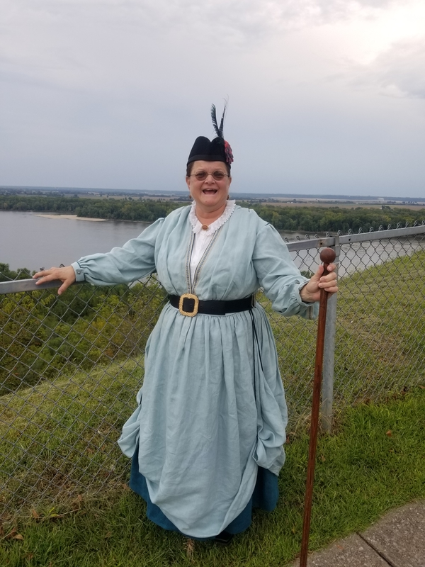 Janita, This was in Hannibal, Mo, back in September. This is my rendition of a waterside dress. I made it so...