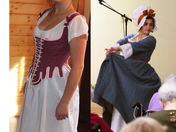 Suzi, We have group of women perform historic fashion shows to public for free.  Ensembles are deeply rese...