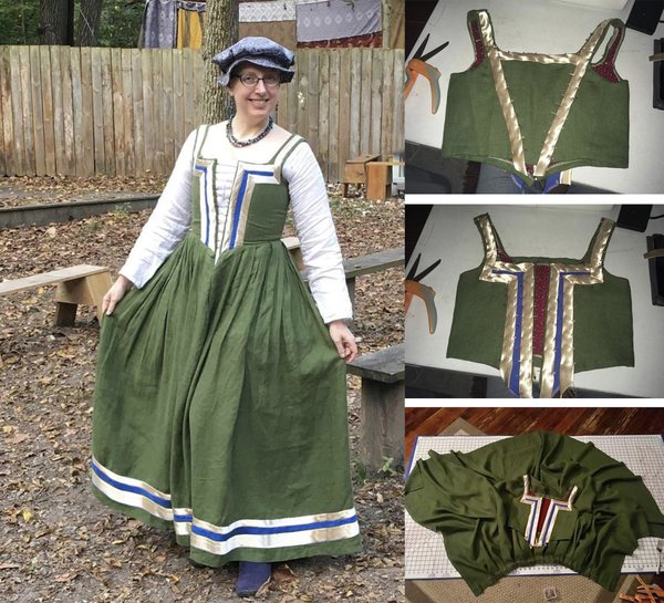 April, Ive made a dress inspired by the picture 'Peasant Women in the Region Surrounding Venice, Seen in V...