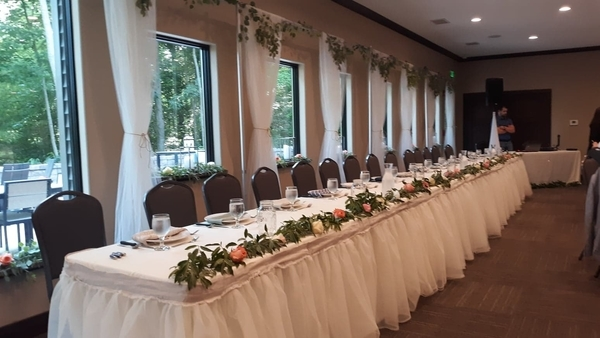 Jenn, For our daughters wedding, I made 250 linen napkins using 6 of the Fabrics-Store linens.  I did a z...