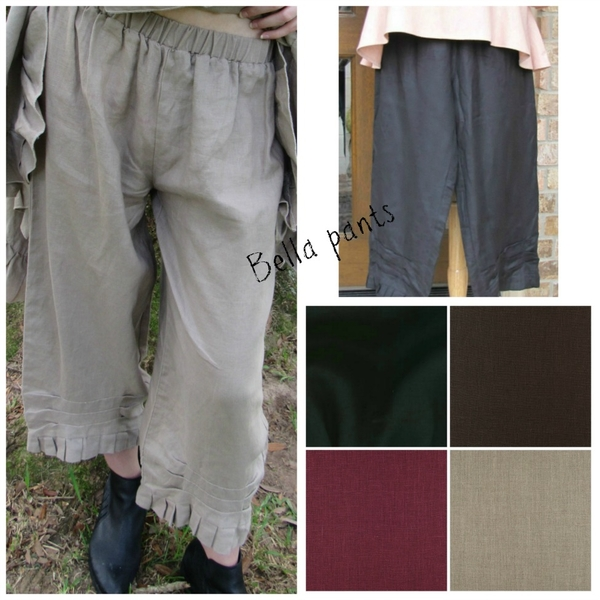 Becky  , Our Bella pants are a customer favorite (and mine as well:) made in any of these lovely Fabric-Store...