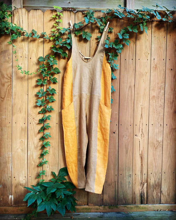 Kate, This ES inspired jumpsuit allows the colors of fall to float into the fleeting remnants of summer. P...