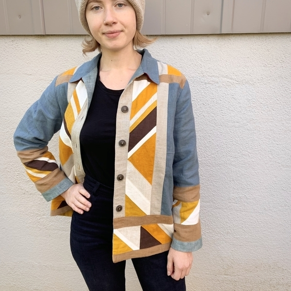 Johanna, My Paola Workwear Jacket embodies the Nature and Environment theme: the quilted patchwork colors are...