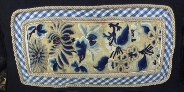 Noreen, A larger view of the back panels of the pillows of my entry they were taken from an antique purse, c...