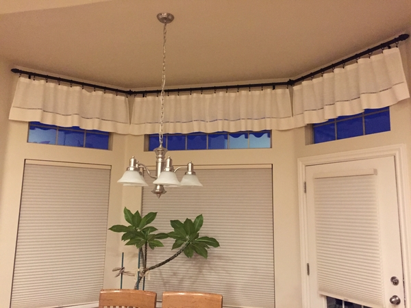 Danette, I used your IL090 softened bleached linen to create these curtains for my kitchen. I created hand st...