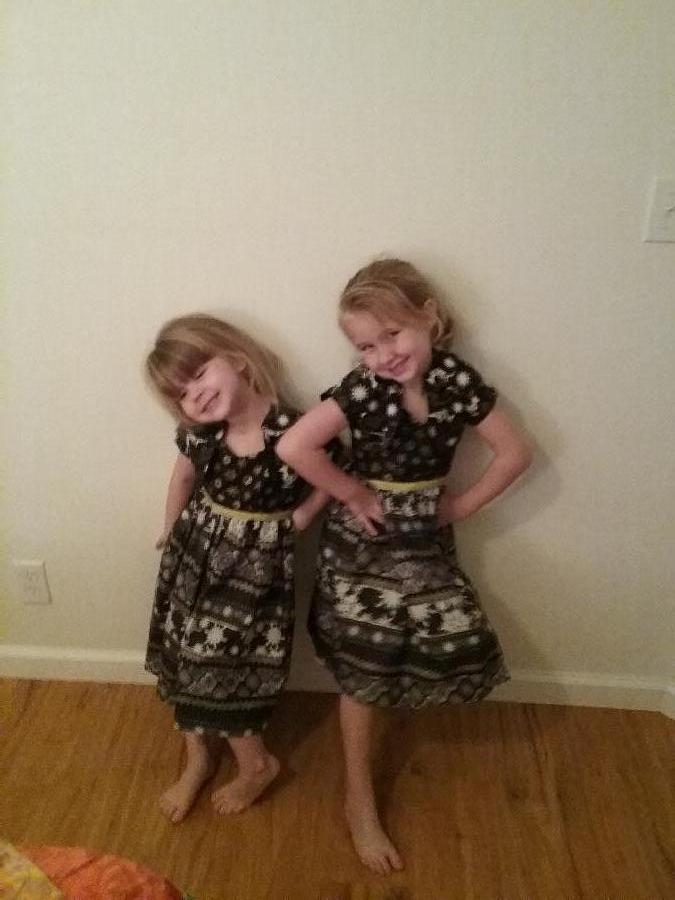 Janna, Christmas dresses for Lilian and Roselynn