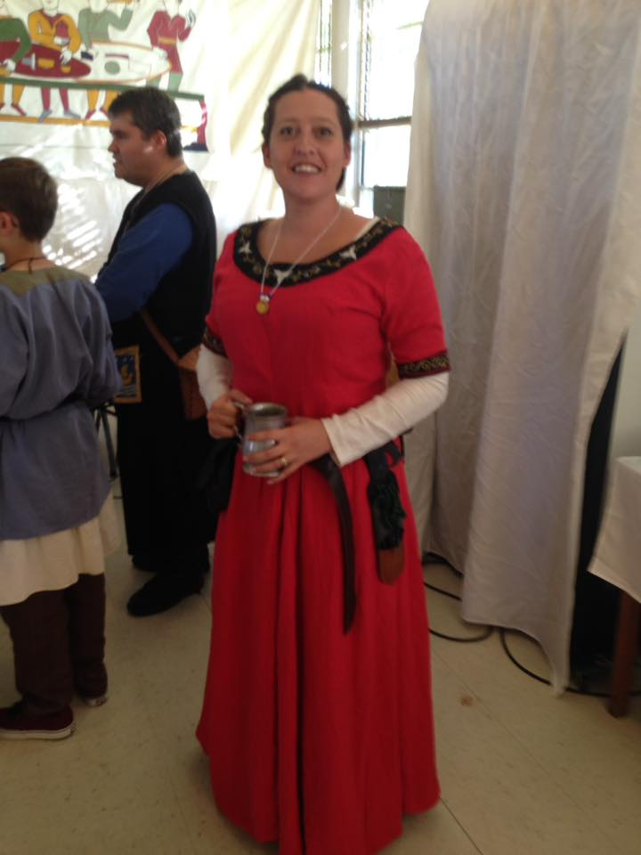 Valerie, 12th century linen dress. Underdress and dress are 100% linen. Handmade embroidery. My first real dr...
