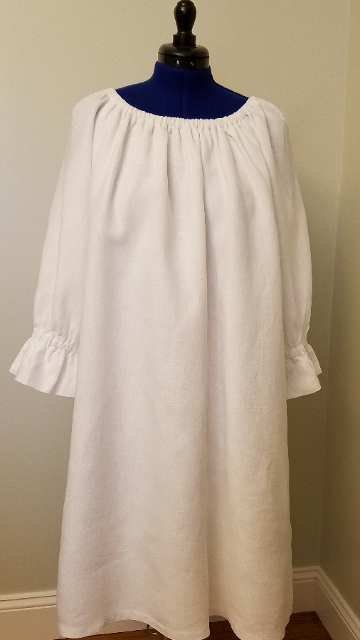 Kathleen, I sewed this nostalgic gown using Optic White Heavy Weight Linen. It was such a joy to sew.