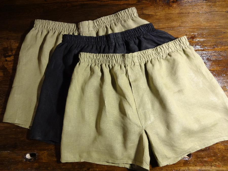 Kira, Boxer Shorts in 100% Lightweight Linen. Simple and functional. All seams turned inside out to remove...