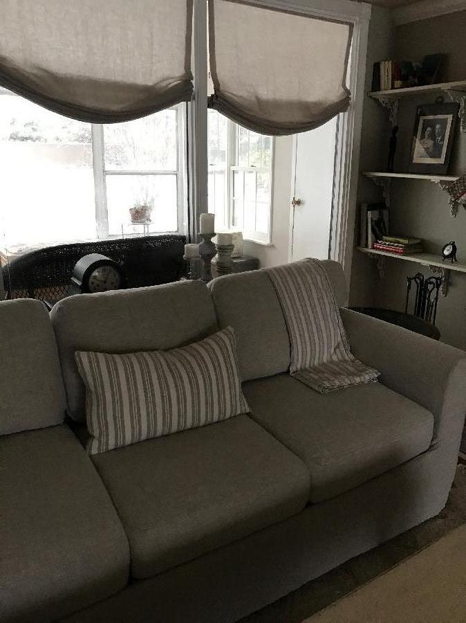 Karen, I made 2 slipcovers for my couches from 4C22 mixed natural . Also made the roman shades and pillow a...