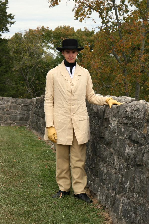 Allison, This unlined linen paletot (coat) was made using period techniques from the 1860s, and was drafted...