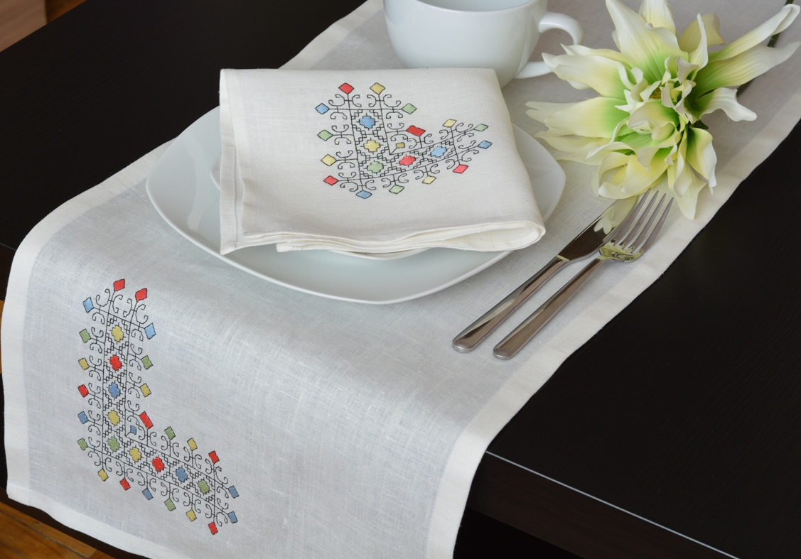 Ralita, I made this Table Runner - napkin  - Placemat set from IL019 BLEACHED 100% Linen. 