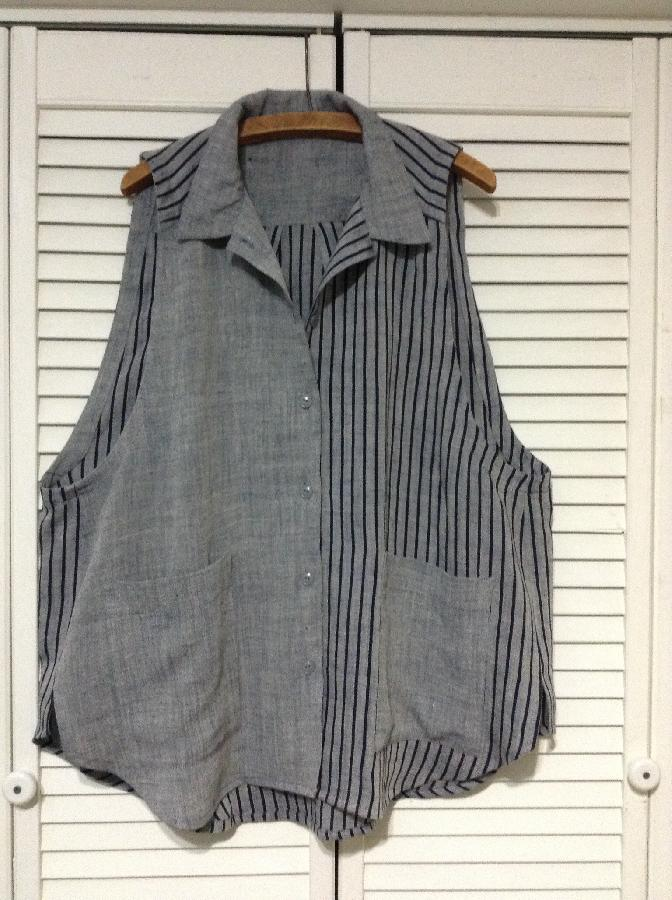 Melissa, Yarn dyed, coordinating, original design casual vest/smock.