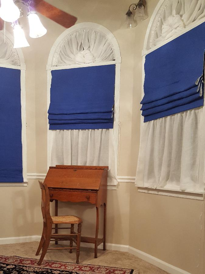 Whitney, The Queen Anne tower in our Victorian reproduction home needed a different style of window covering,...