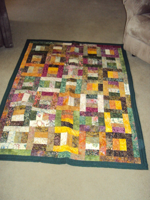 Laurie, First quilt using batiks.  They were fun & I plan to do more.