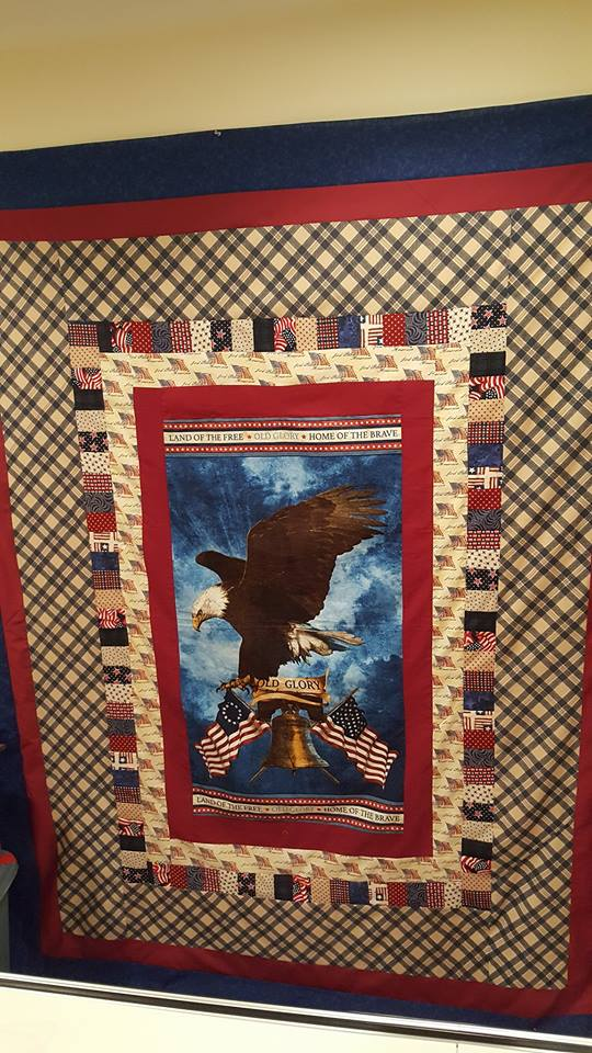 Carol, This is my first full size quilt with my own design that I  finished last month.  I love sewing so m...