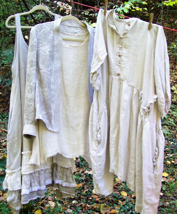 Vickie, Ive fell in love with linen!  This is a collection of a slip dress, tunic top, dress and jacket mad...