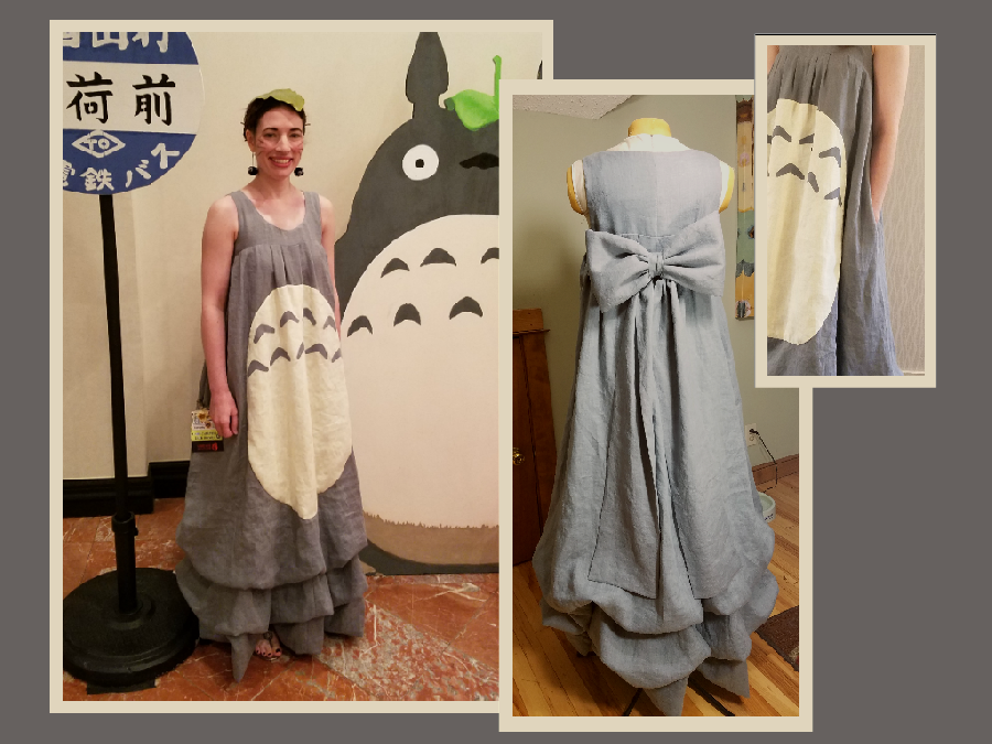 Alicia, My Neighbor Totoro Dress - My local sci-fi convention is in early July, so I wanted a costume that w...