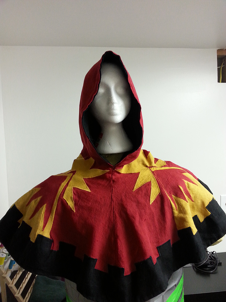 Whitney, This is a 14th century recreation of a liripipe hood. This hood was made for the archery champion fo...
