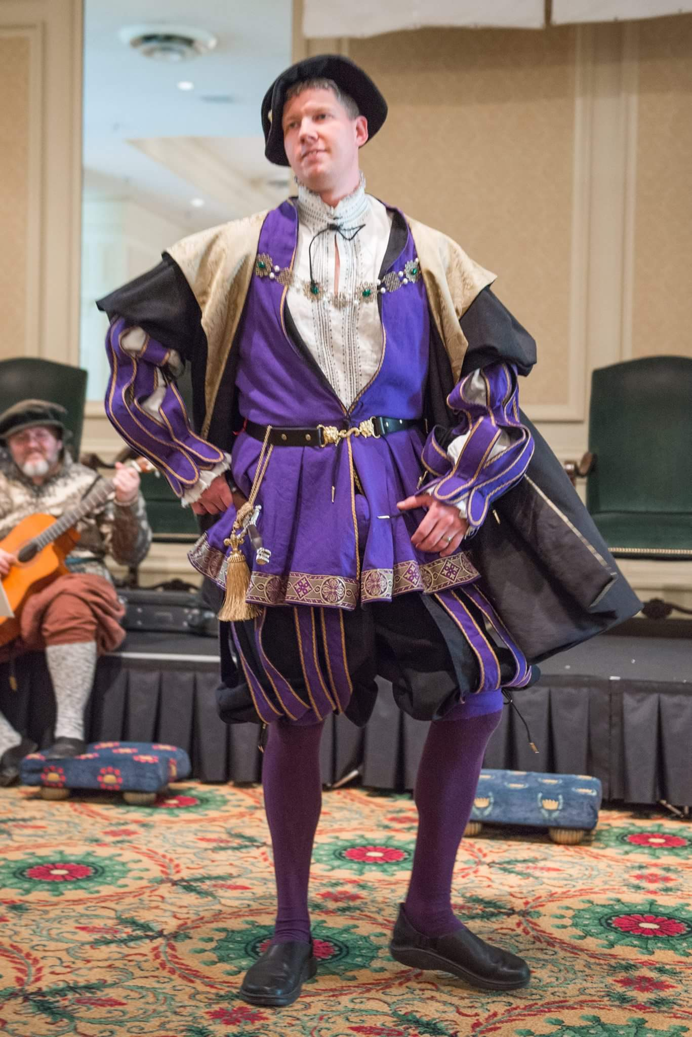 Matthew , This is a recreation of the man in red from 16th century England. I used the Royal purple heavy we...