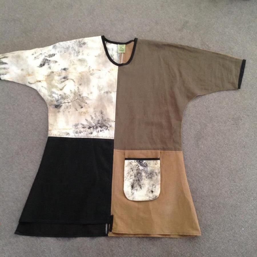 Andrea, This tunic is my own design incorporating linen in your beautiful colours of nutmeg and cream, Eco p...