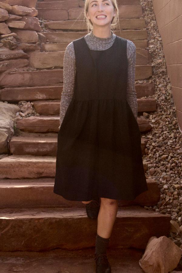 Ashley , I designed this oversized linen dress made with medium weight linen after being inspired by the new...