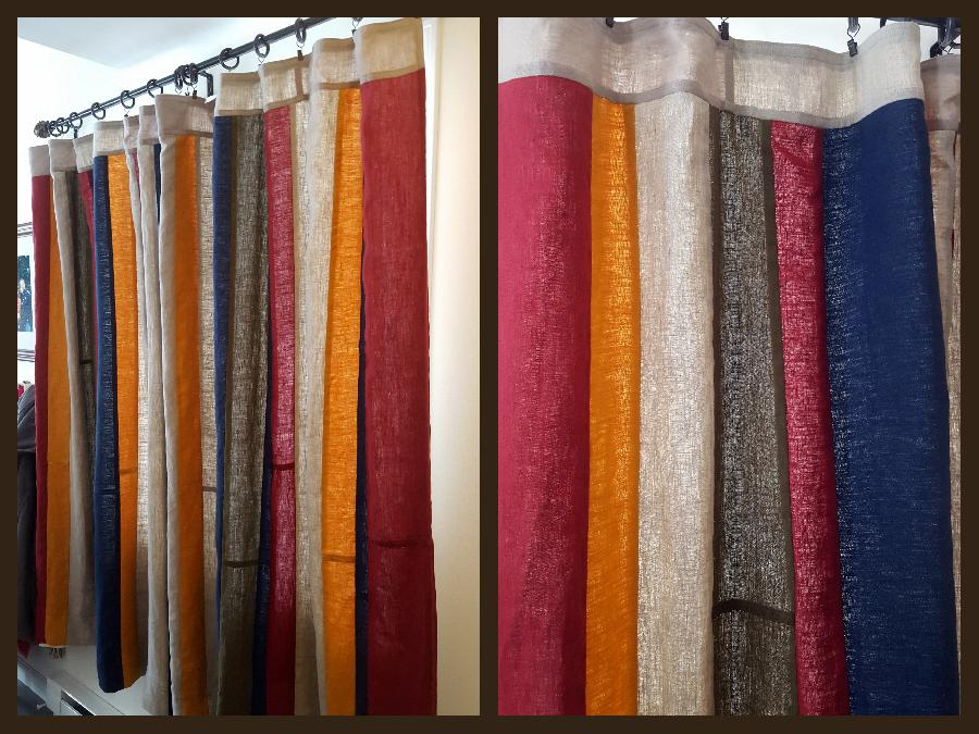 Ellie, Linen curtains in a variety of shades of IL019. The curtains are entirely french seamed for durabili...