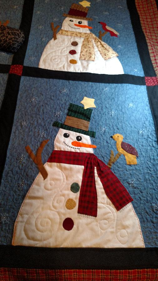 Debra, Christmas gift for my son and his new bride.  I used his old shirts in most of the quilt.  If you zo...