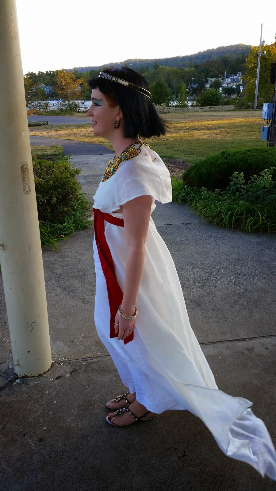 Christine, My Nefertari. Long standing fascination with Ancient Egypt led to this. The gown is light weight lin...