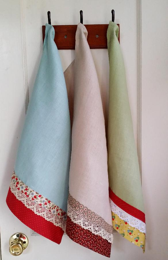 Sharon, I am in love with Tea Towels!  Blue Cottage Creations will be opening soon on Etsy and one of our ma...