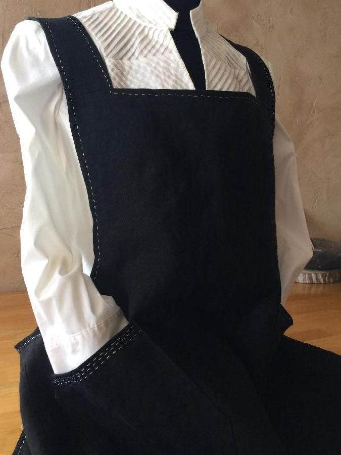 Sherry, I made this apron using 4C22 heavy black linen.  I followed the well written tutorial provided by Th...