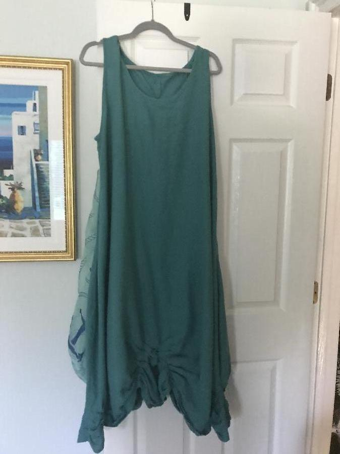 Maryellen, Boho Chic dress out of mid weight linen
