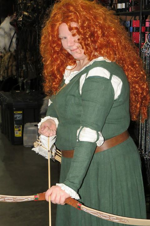 Katherine, Merida - Brave  Dress - IL019 Evergreen and Papyrus Linen (Joann) Wig - Two Hong Kong specials sew...