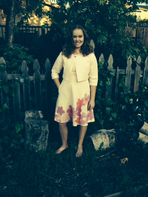 Penelope, I am 13 years old and made this lined pink linen dress and jacket in my 4H sewing group.  I also han...