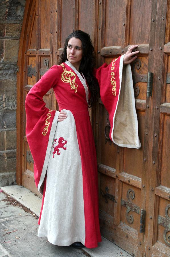 Nancy, I made my version of Cersei Lannisters red dress(Game of Thrones) as a cosplay costume.The main par...