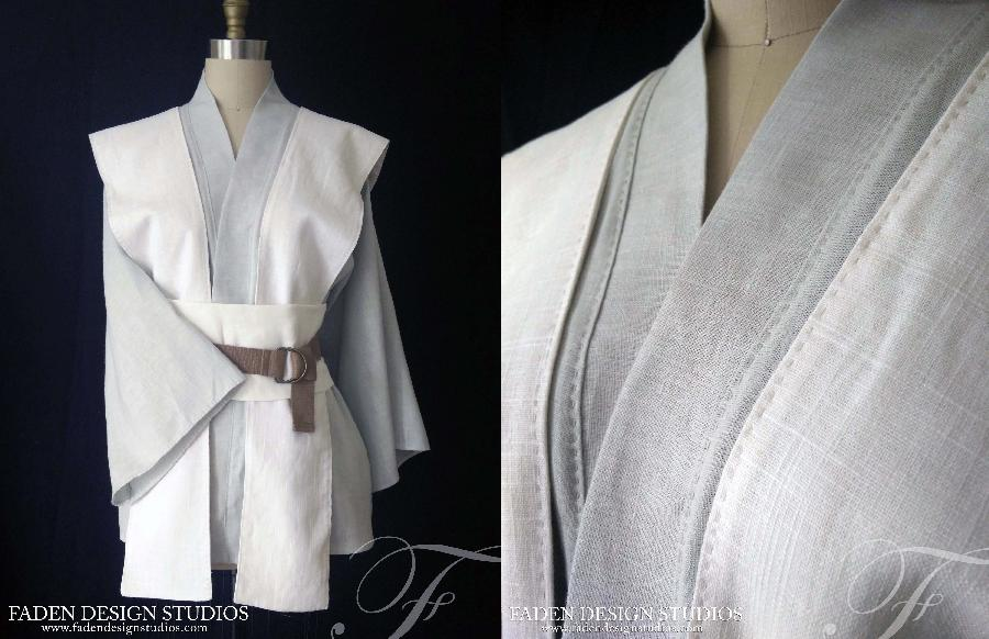 Romy, Jedi Robes~  mid-weight linen with hand stitching details.