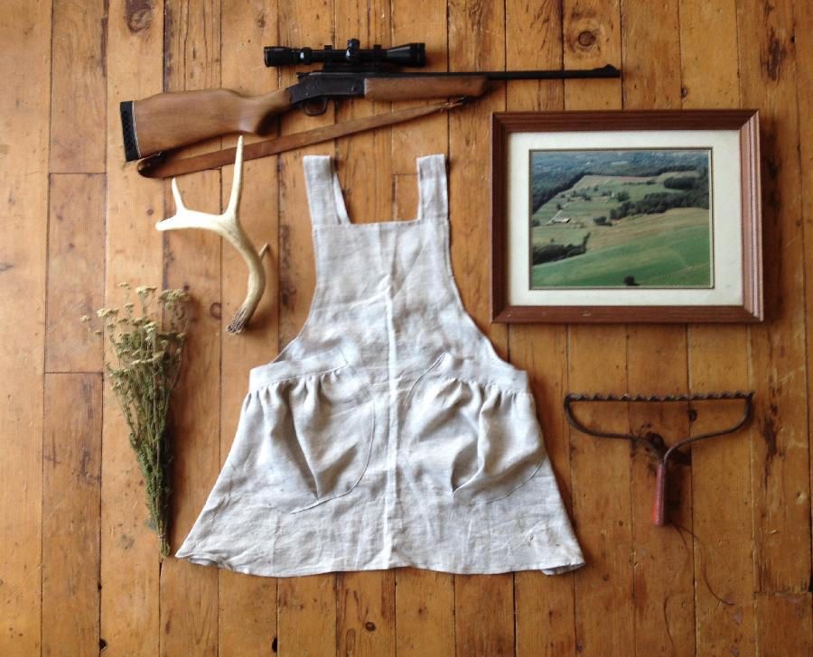 Jessica, A simple harvesting apron in mixed natural ????